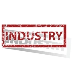INDUSTRY outlined stamp vector