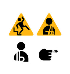 Injury sign vector