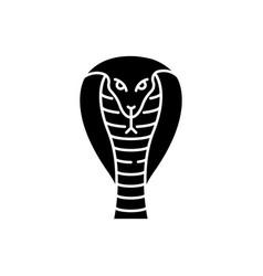 king cobra black glyph icon vector image