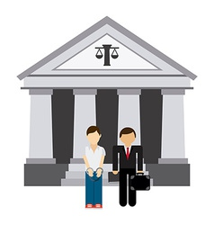 lawyer man vector image
