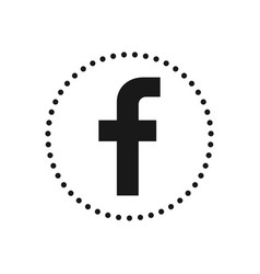 Letter f social media icon sign or symbol for vector