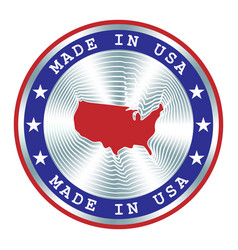 Made in usa seal or stamp round hologram sign vector