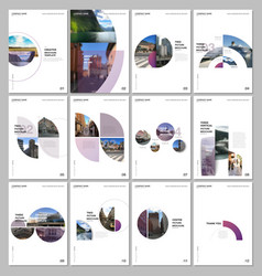minimal brochure templates with circles round vector image