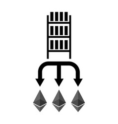 Mining etherium farm icon extraction of vector
