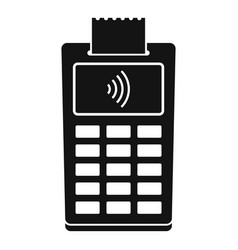 nfc payment terminal icon simple style vector image