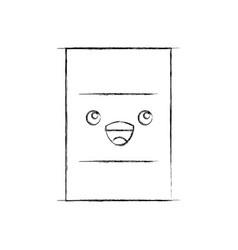 Nuclear barrel kawaii character vector