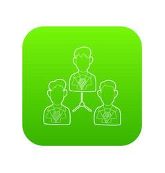 Office team icon green vector