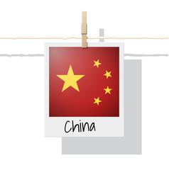 Photo of china flag on white background vector