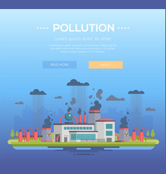 Pollution - modern flat design style vector