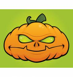 pumpkin monster vector image