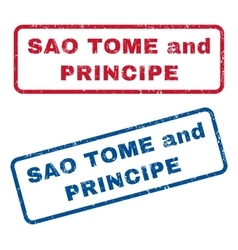 Sao Tome and Principe Rubber Stamps vector