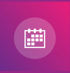 schedule calendar icon vector image