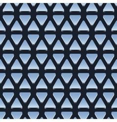 seamless pattern shiny metallic triangles vector image