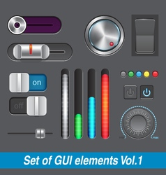 Set of GUI elements vector image