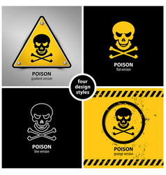 set of poison symbols vector image