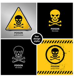 set poison symbols vector image