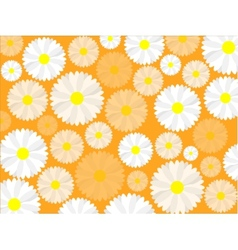 Simple seamless daisy background vector image