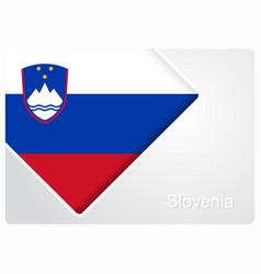 Slovenian flag design background vector