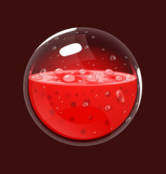 Sphere of blood game icon of magic orb interface vector