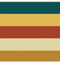 Striped Coloured Knitted Backround vector image