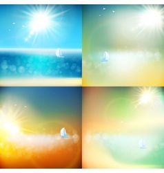 Summer background with burst EPS 10 vector