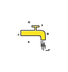 tap water object icon desige vector image