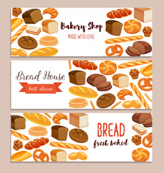 Template food with bread products vector