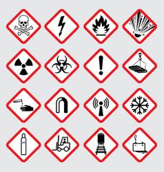 Warning hazard pictograms vector