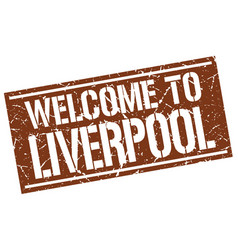 Welcome to liverpool stamp vector