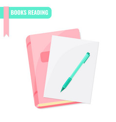 Books reading books research tutorial concept vector