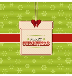 Christmas present label background vector image vector image