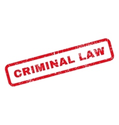 Criminal Law Text Rubber Stamp vector image vector image