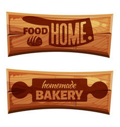 cartoon bakery labels vector image