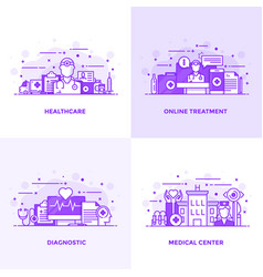 flat line purple designed concepts 9 vector image vector image