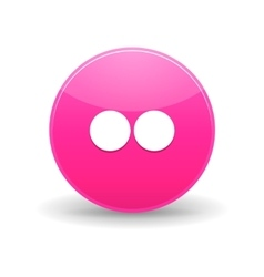 Flickr icon simple style vector