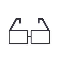 glasses line icon sign on vector image