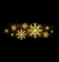 golden glitter gorgeous snowflake luxurious vector image vector image