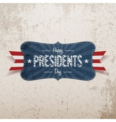 Happy Presidents Day Banner and Ribbon vector image