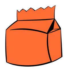 milk or juice carton package icon icon cartoon vector image
