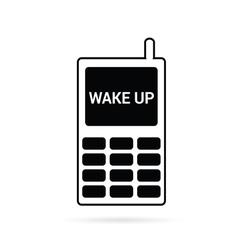 mobile phone in black vector image