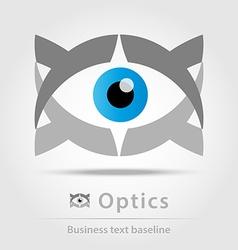 Optics business icon vector image vector image