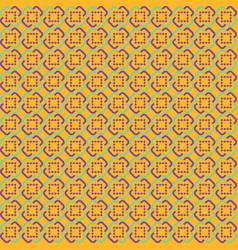 orange abstract sameless pattern vector image vector image