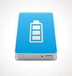 Portable power bank vector