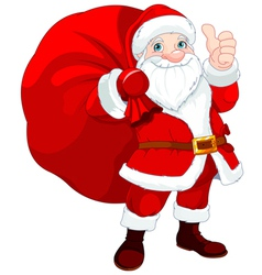 Santa Claus with a Bag vector image vector image