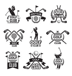 badges or logos for golf club monochrome pictures vector image vector image