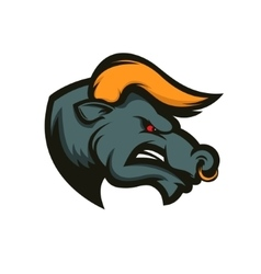 Bull mascot Emblem for sport team or club vector image vector image