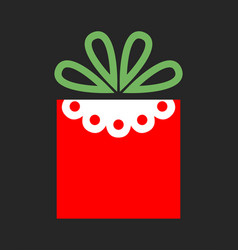 flat color icon gift box on dark background a vector image