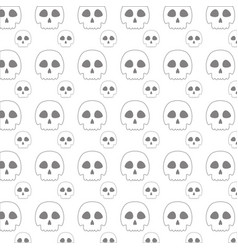 Line skull danger and caution alert background vector