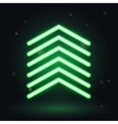 Neon up arrow vector image