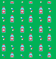 seamless background pattern medicine vector image vector image